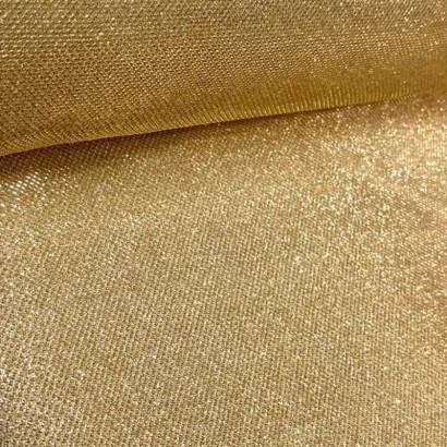 Tela de malla brillante dorada lomo