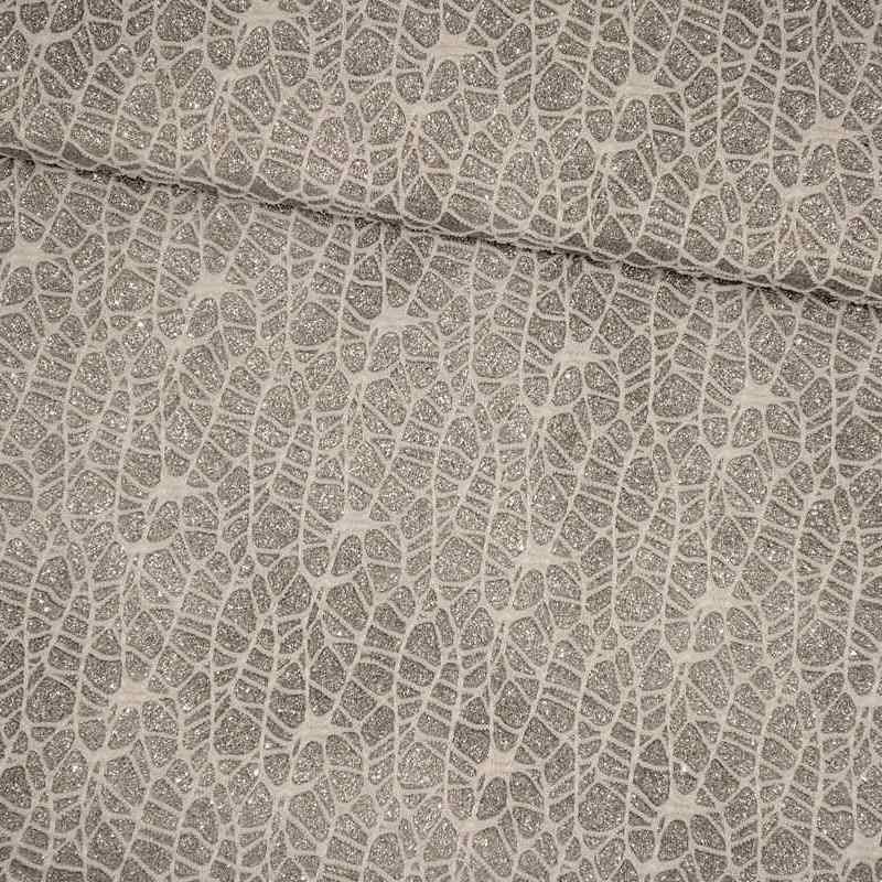 Tela de malla de telaraña plata lomo