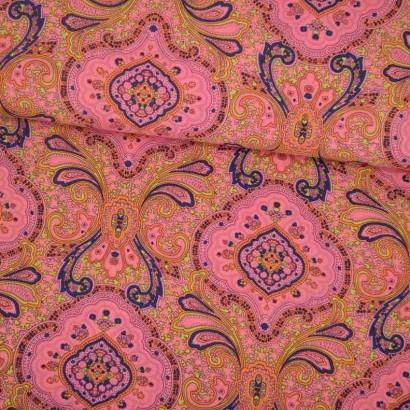 Tela de tergal hippy rosa lomo