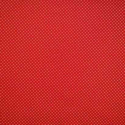 Tela de algodón de topos 3mm rojo blanco