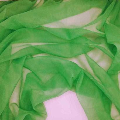Tela de gasa de carnaval verde arrugada