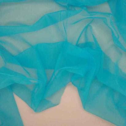 Tela de gasa de carnaval azul arrugada