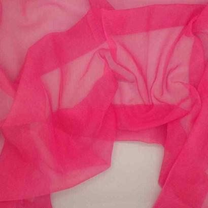 Tela de gasa de carnaval rosa arrugada