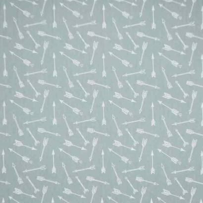 Tela de algodón flechas azul