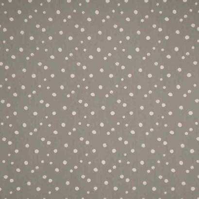 Tela de algodón topos pintados gris