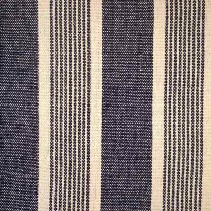 Tela de loneta gruesa de raya desigual azul
