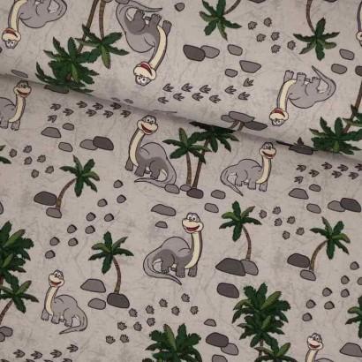 Tela de punto dinosaurios lomo