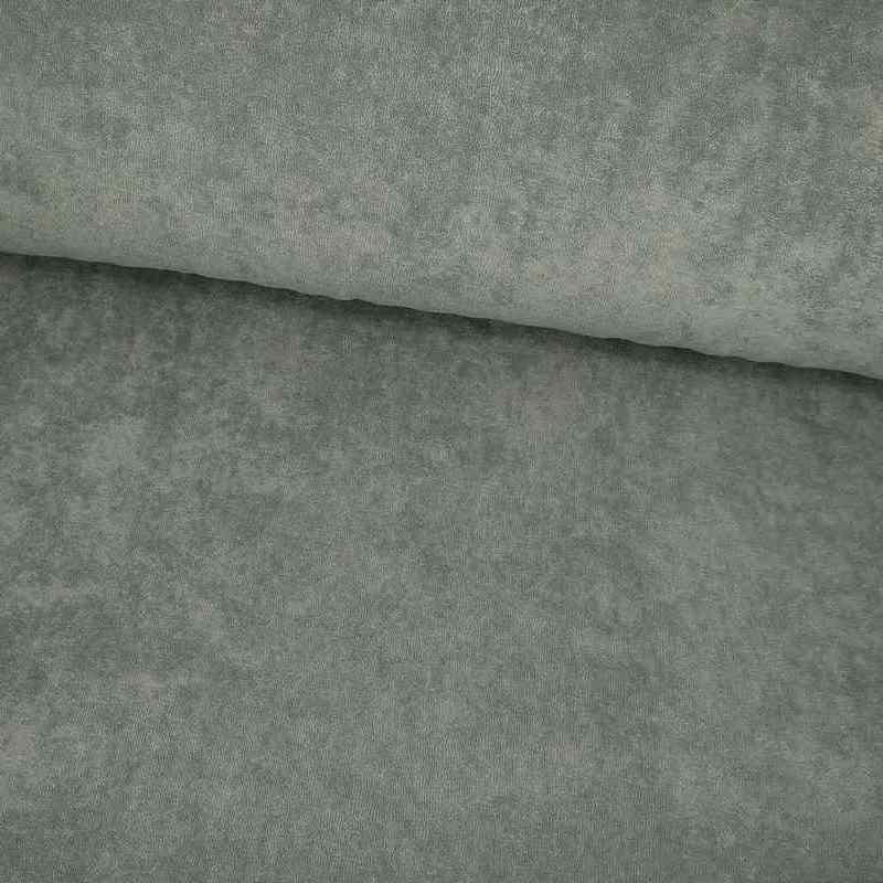 Tela de toalla fina verde lomo