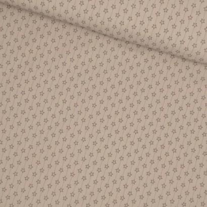 Tela de algodon estrellas grises lomo
