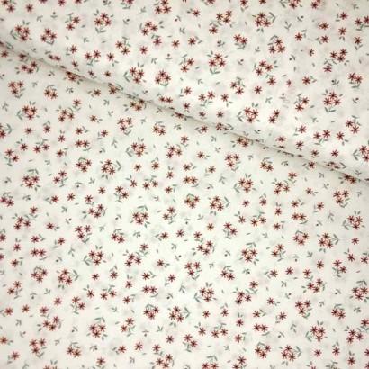 Tela de algodón con flores liberty lomo