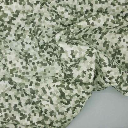 Tela de algodón con cuadrados arrugada