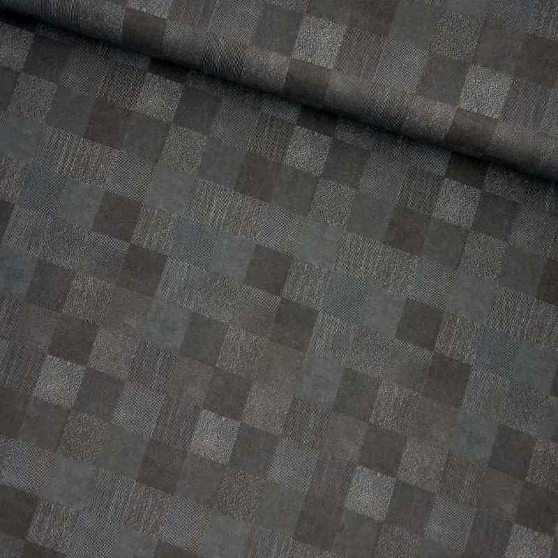 Tela de algodón con cuadrados lomo