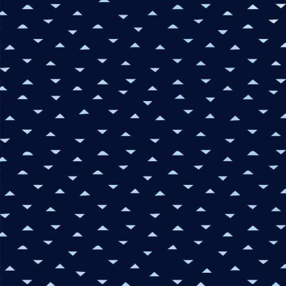 Tela de algodón con triángulos lisa