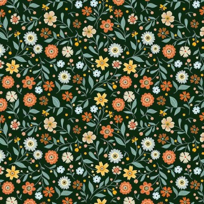 Tela de algodón flores liberty lisa