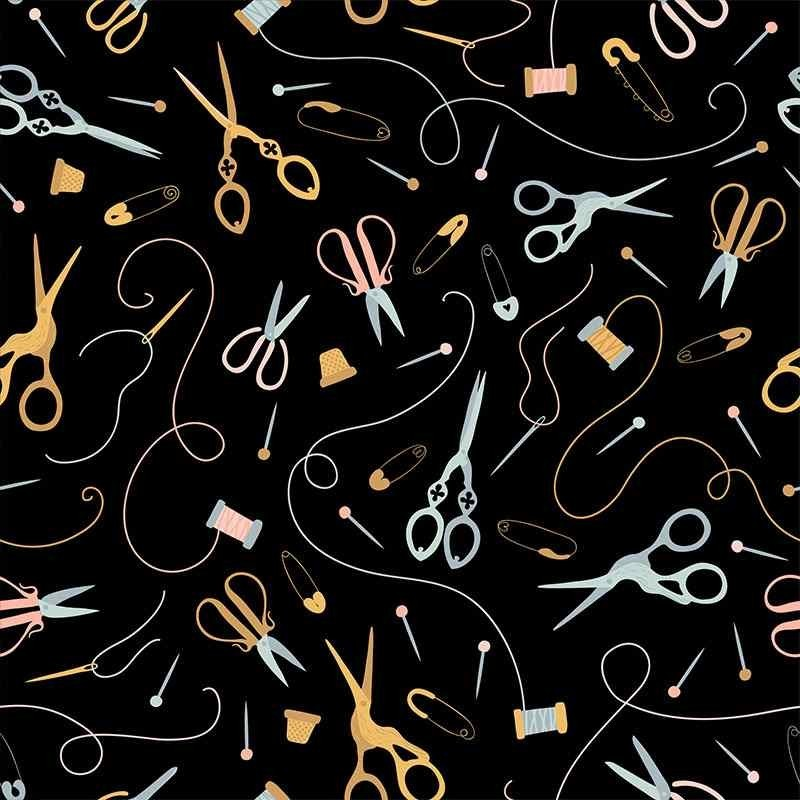 Tela de algodón útiles de costura lisa