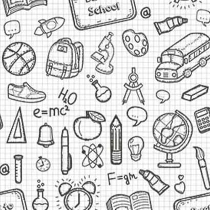 Tela de algodón útiles escolares lisa