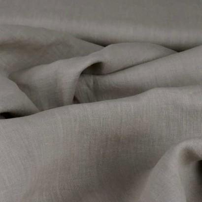 Tela de lino color piedra arrugada