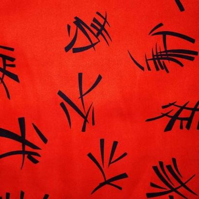 Tela de raso chinesco rojo 1