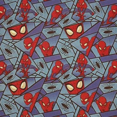 Tela de algodón con spiderman lisa