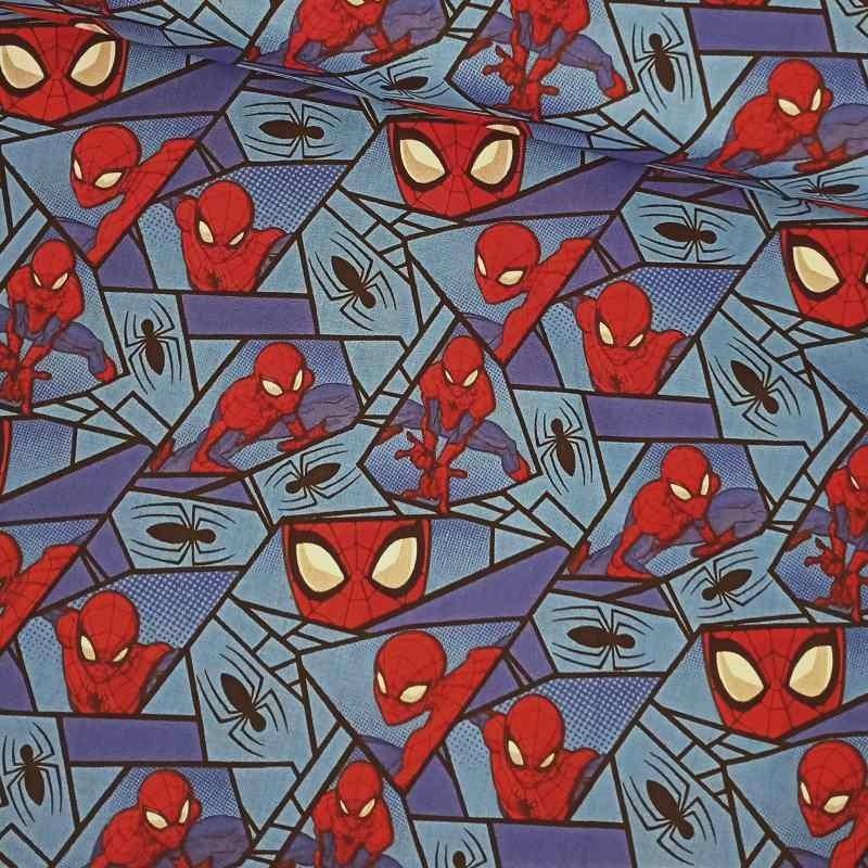 Tela de algodón con spiderman lomo