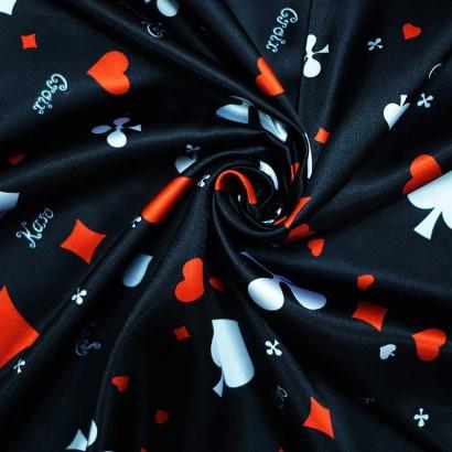Tela de raso poker arrugada