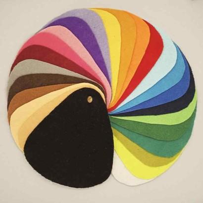 Tela de fieltro gama de colores