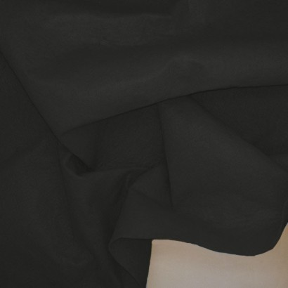 Tela de fieltro arrugada negro