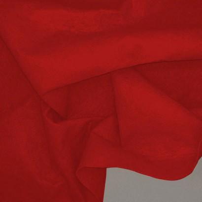 Tela de fieltro  arrugada roja