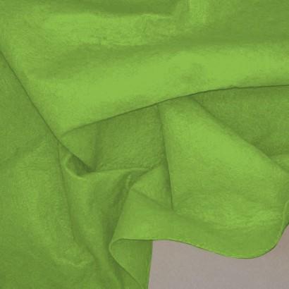 Tela de fieltro arrugada verde