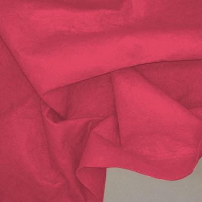 Tela de fieltro arrugada rosa fucsia