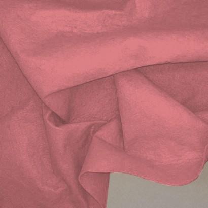 Tela de fieltro arrugada rosa