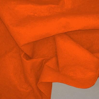 Tela de fieltro arrugada naranja