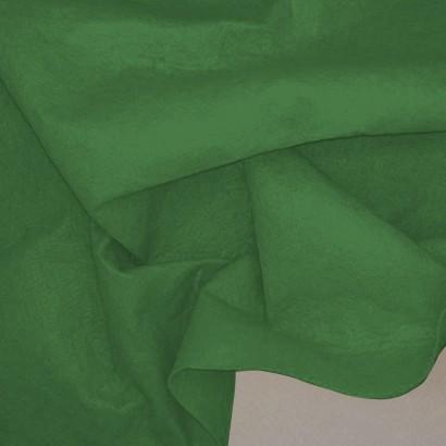 Tela de fieltro arrugada verde billar