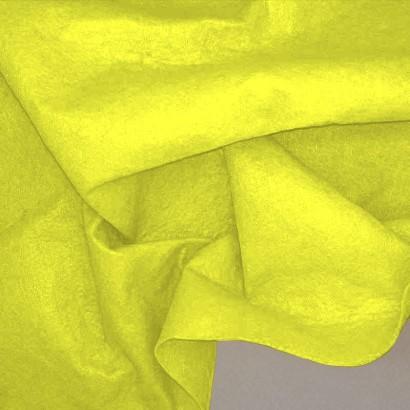 Tela de fieltro arrugada amarillo fosforito