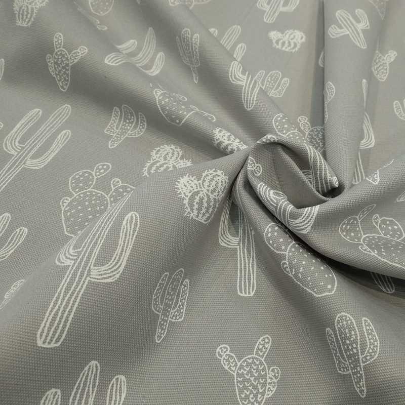 Tela de algodón cactus arrugada