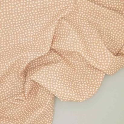 Tela de algodón arrugada