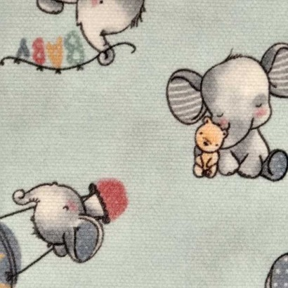 Tela de algodón elefante 2
