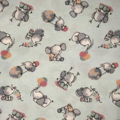 Tela de algodón elefante 3