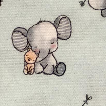 Tela de algodón elefante 1