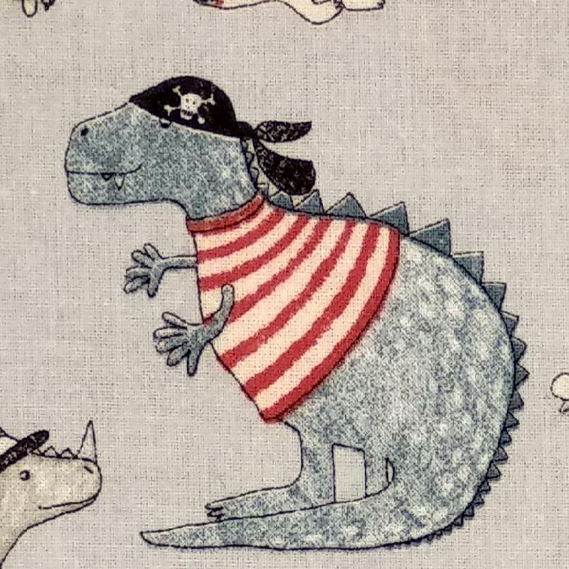 Tela de algodón dinosaurio 1