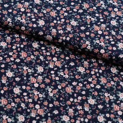Tela de algodón con flores