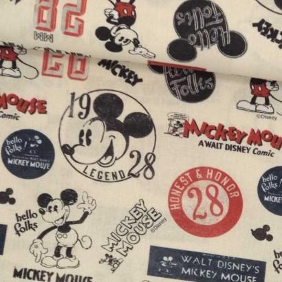 Tela de algodón Micky Mouse tubo