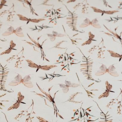 Tela de punto camiseta libelulas lisa