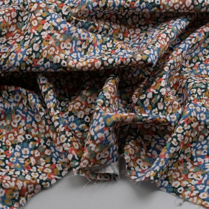 Tela de algodón retro animal print colorido arrugada