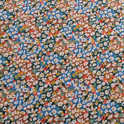 Tela de algodón retro animal print colorido lisa