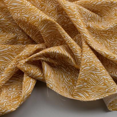 Tela de algodón retro animal print arrugada