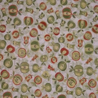 Tela de algodón de manzanas 1