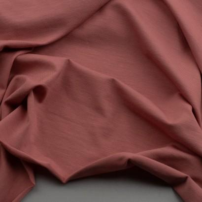Tela de punto camiseta lisa bambú arrugada