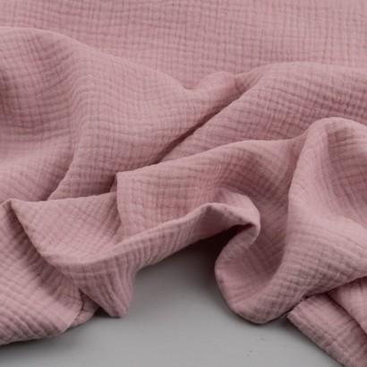 muselina rosa palo arrugada