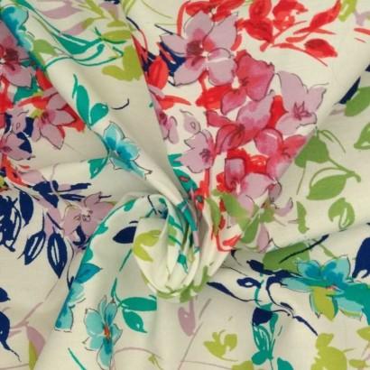 Tela de algodón colores vivos arrugada